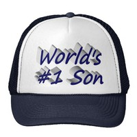 World's #1 Son 3D Hat, Blue