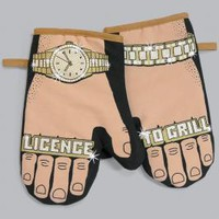 Stuart Gardiner Design: Licence to grill single oven mitt