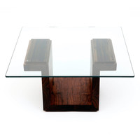 ARTLESS: SQG22 Rect Glass Table Walnut II, at 24% off!