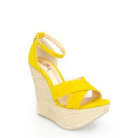 Re Lax Wedge in Yellow