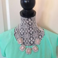 Charlotte Russe Pastel Bib Statement Necklace