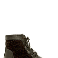 Wild Diva Lounge Tosca 85A Black Lace-Up Ankle Boots
