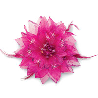Feathered Flower Hair Clip; Balera