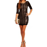 Pre-Order BlackNude 34 Sequin Dress