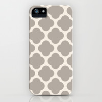 gray clover iPhone & iPod Case by Beverly LeFevre
