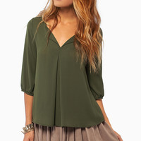 Ornate Folds Blouse $28