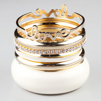 FULL TILT 7 Piece Love Bangles