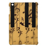 Vintage Piano Keys with Notes iPad Mini Covers