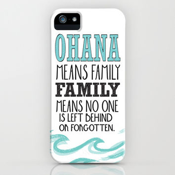 ohana means family.. lilo and stitch disney...  iPhone & iPod Case by studiomarshallarts