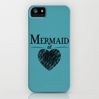 Mermaid at Heart iPhone & iPod Case by Emily Anne Design