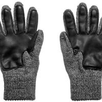 Deerskin Palm Ragg Wool Glove (Charcoal)
