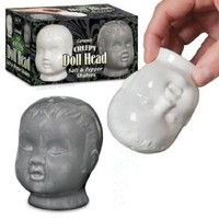 Creepy Doll Heads Salt and Pepper Shakers