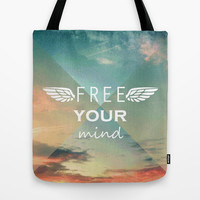 Free Your Mind Tote Bag by Louise Machado