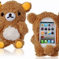 3D Plush Bear Protective Case for iPhone 5 and iPhone 4 & 4S (Brown)