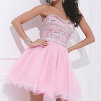 Soft Tulle Gown by Tony Bowls Shorts