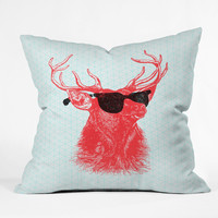 Nick Nelson Young Buck Outdoor Throw Pillow