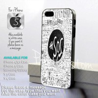 5 Seconds Of Summer Collage quote - Design for iPhone 5 Black Case