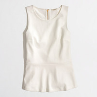 FACTORY PONTE PEPLUM TOP