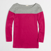 FACTORY COLORBLOCK BOATNECK TEE