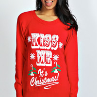 Emma Kiss Me It's Christmas Jumper