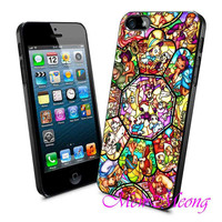 All disney heroes stained - iPhone Case - iPhone 4 iPhone 4s - iphone 5 - Samsung S3 - Samsung S4