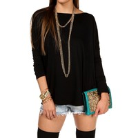 Ivory Oversized Dolman Top