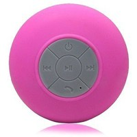 Splash Shower Tunes (Pink) - Bluetooth Waterproof Speaker and Remote