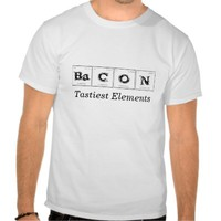 unisex tee shirt Bacon tastiest elements