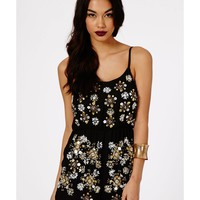 Missguided - Gibona Embellished Strappy Playsuit