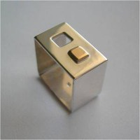 Square Sterling Silver Ring With Square Window | lauraberrutti