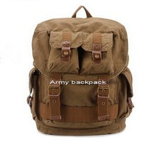 Rugged canvas army combat backpack by Ubackpack