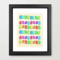 Pastel Colors Paint Dabs Framed Art Print by Tees2go