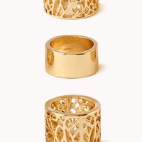Cutout Craze Midi Ring Set