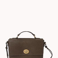 Classic Faux Leather Satchel