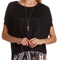 SURPLICE DOLMAN SLEEVE TOP