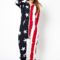Onepiece Stars and Stripes Onesuit