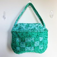 Quilted Zippered Ruffled Purse, Quilted Zippered Ruffled Handbag