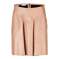 Brunello Cucinelli - Leather Flared Skirt