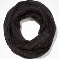 SEQUIN AND METALLIC KNIT INFINITY SCARF