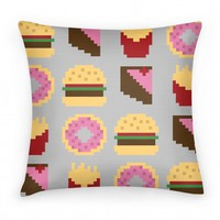 8 Bit Food Pillow