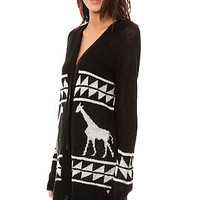 The LRG Junk Boyfriend Jacquard Cardigan in Black