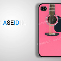 Guitar case Case iPhone 4 Case iPhone 4s Case iPhone 5 Case S3/S4 idea case graphic case pink case music case CaseiPhone iPhonecase