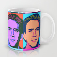 Nicholas Cage Pop Art Mug by LookHUMAN