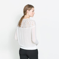 BLOUSE WITH CUT WORK YOKE