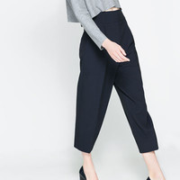 JACQUARD TROUSERS WITH BUCKLE