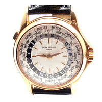 Patek Philippe Rose Gold World Time Wristwatch Ref 5100R
