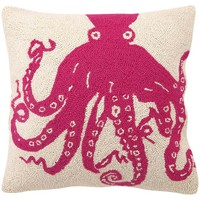 Octopus 18x18 Pillow, Magenta