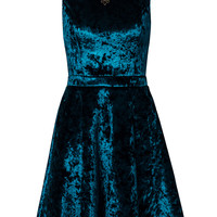 CAP SLV VELVET PROM DRESS