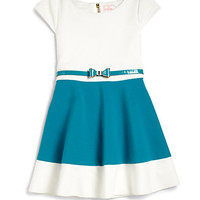 Girl's Colorblock Skater Dress
