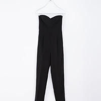LONG JUMPSUIT WITH SWEETHEART NECKLINE